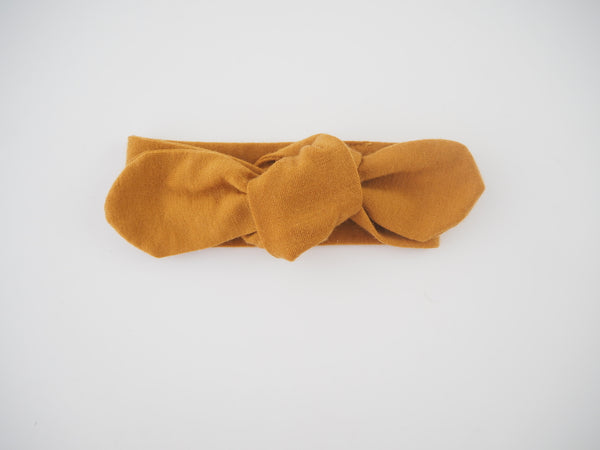 Snuggle Hunny Kids Baby Topknot Headband in Mustard