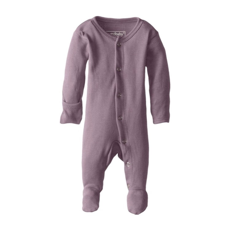 L'ovedbaby Organic Footed Overall in Lavender | Little Bambino Bear