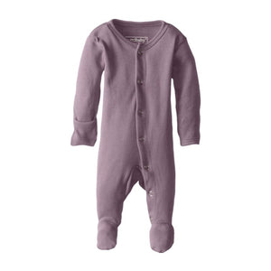 Organic Footed Overall - Lavender - Little Bambino Bear