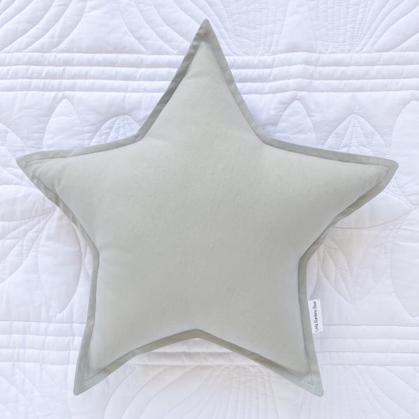 Light Grey Star Cushion - - Little Bambino Bear