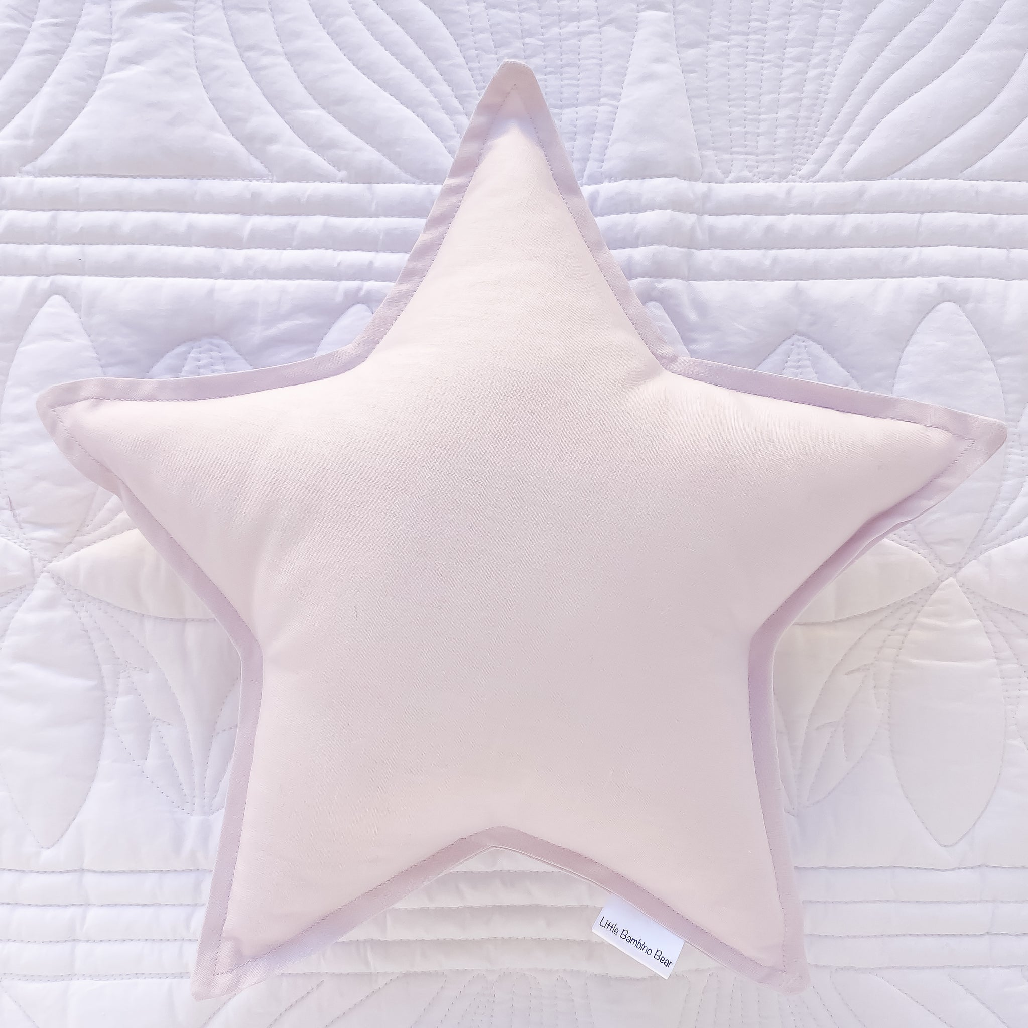 Light Lavender Star Cushion - Little Bambino Bear