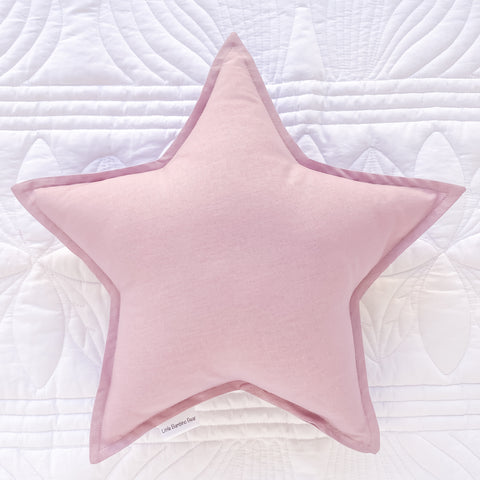 Little Bambino Bear - Mauve Star Cushion