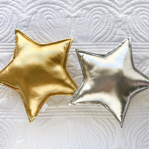 Gold and Silver Star Cushions