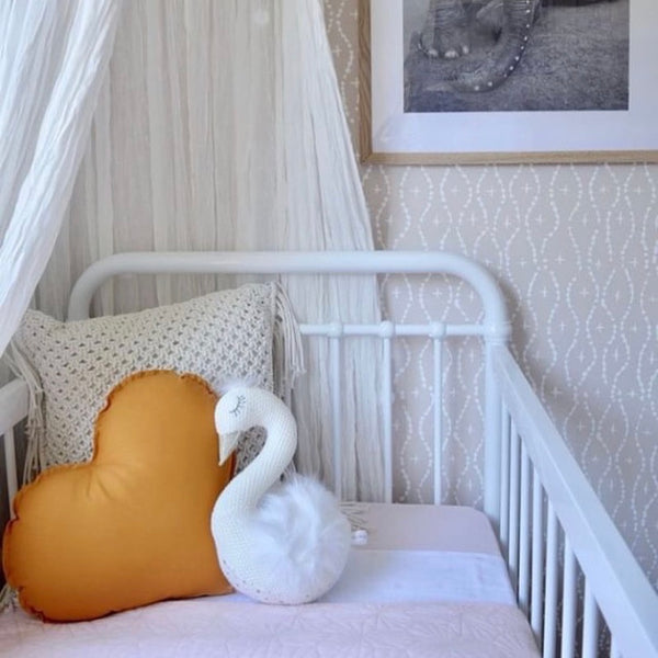 Mustard Heart Cushion | Little Bambino Bear