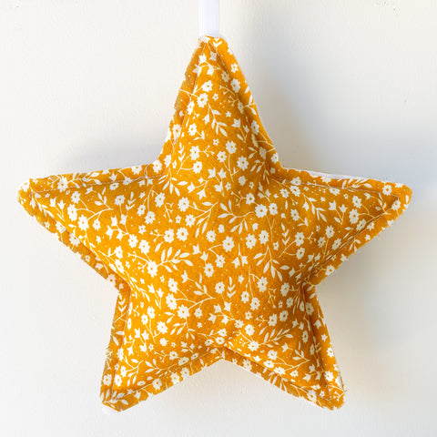 Mustard Floral Star Wall Hanging - Little Bambino Bear
