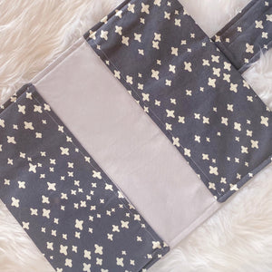 Nappy Clutch - Grey Crosses with Light Grey Inner