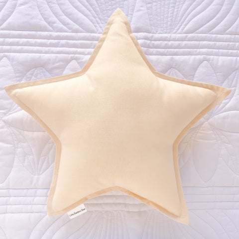 Natural Star Cushion | Little Bambino Bear