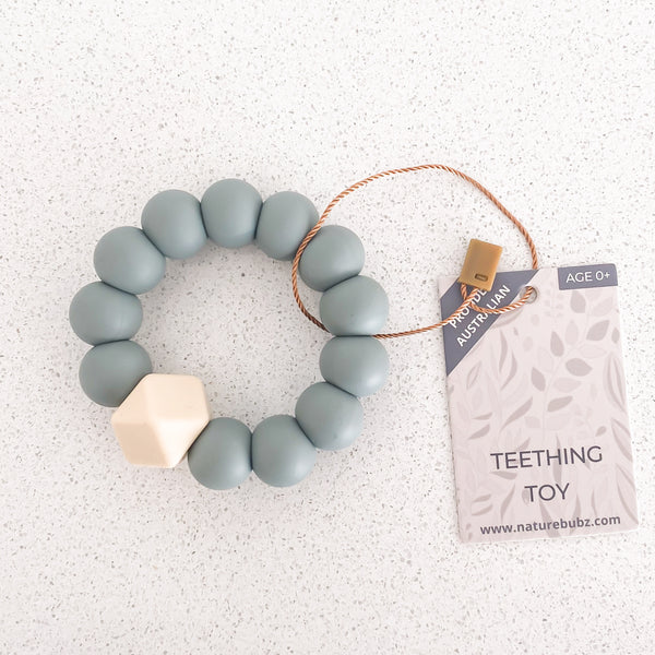 BASICS Teething Toys - Dusty Blue