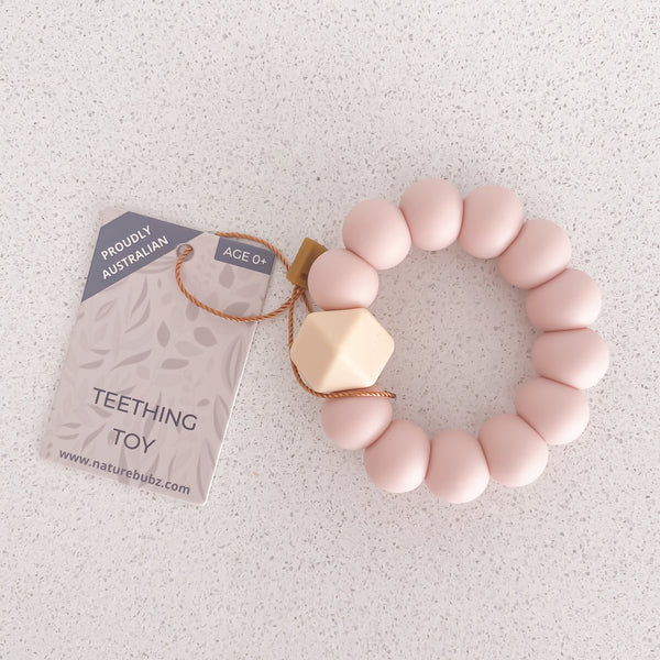 BASICS Teething Toys - Dusty Pink