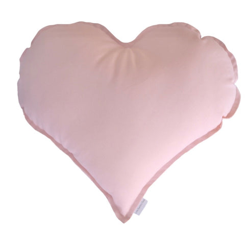 Heart Cushion - Baby Pink | Little Bambino Bear