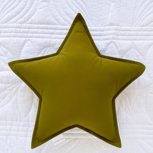 Olive Green Star Cushion - Little Bambino Bear