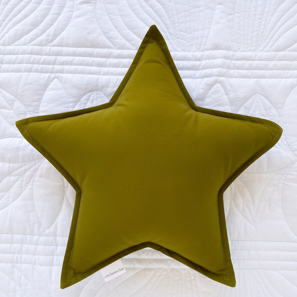 Little Bambino Bear - Olive Green Star Cushion