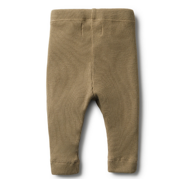 Wilson and Frenchy Organic Olive Rib Legging