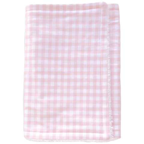 Pink Gingham Premium Burp Cloth - Little Bambino Bear