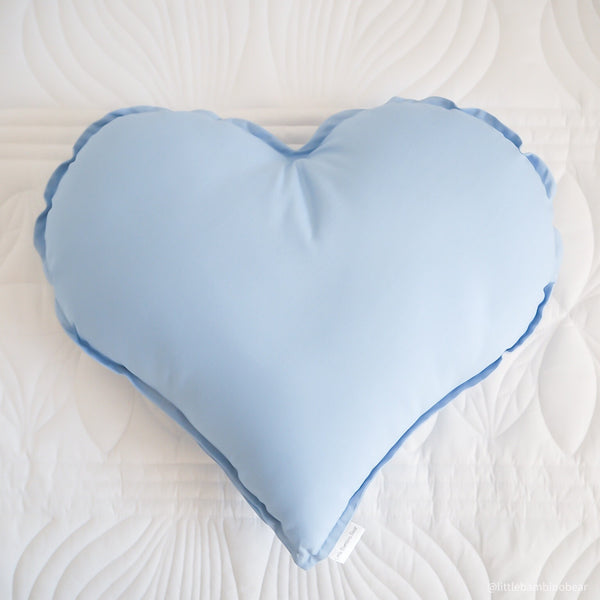 Placid Blue Heart Cushion | Little Bambino Bear