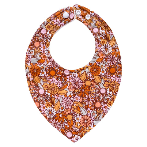 Retro Floral Bib - Little Bambino Bear