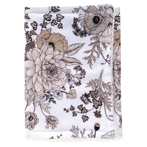Sophia Floral Premium Burp Cloth