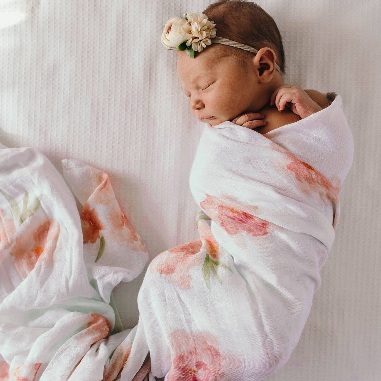 Sorbet Bloom Muslin Wrap | Little Bambino Bear
