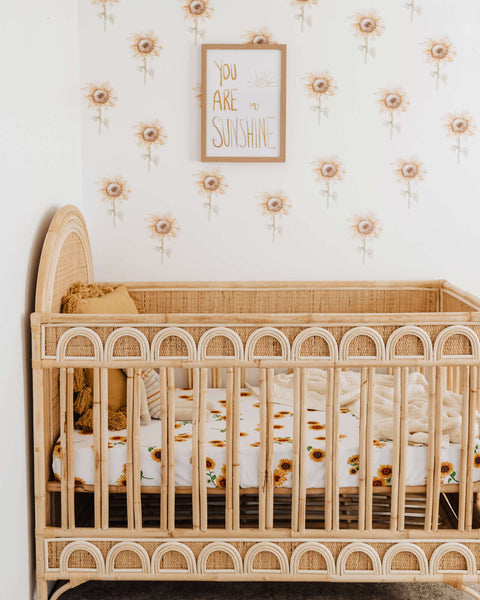 Sunflower Cot Sheet - Snuggle Hunny Kids