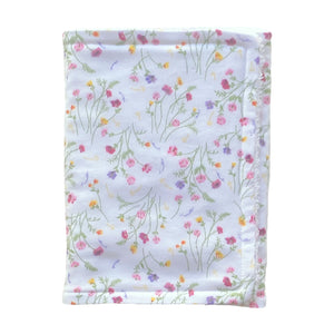 Burp Cloth - White Floral - Little Bambino Bear