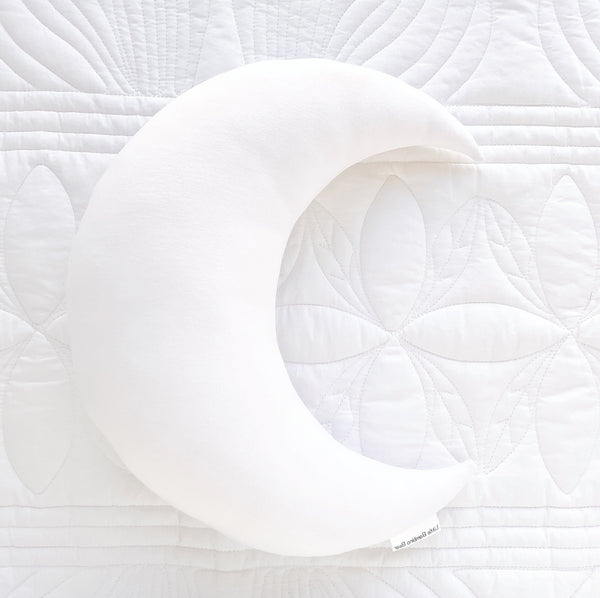 White Moon Cushion - Little Bambino Bear