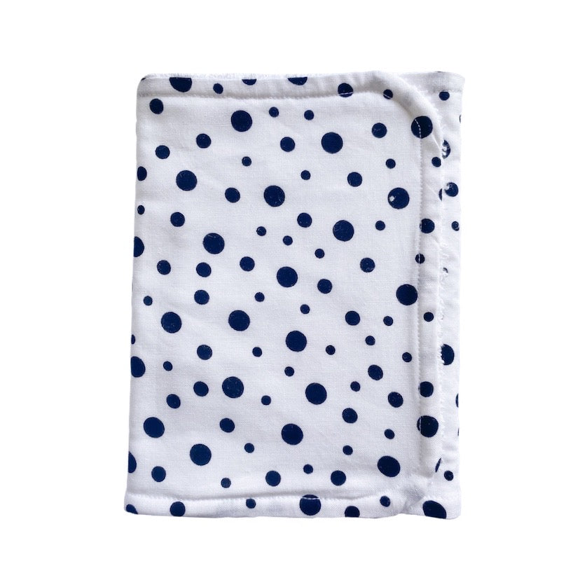 White black spot burp cloth | Little Bambino Bear