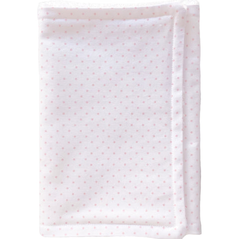 White with Pink Dot premium Burp cloth - Little Bambino Bear