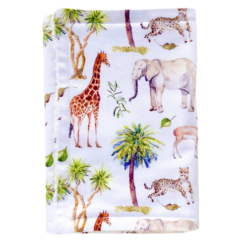 Wild Africa Burp Cloth - Little Bambino Bear