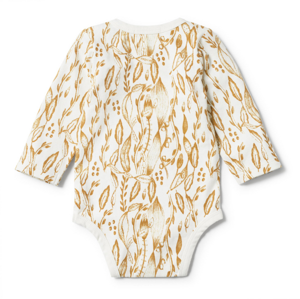 Organic Little Vine Long Sleeve Bodysuit - Little Bambino Bear