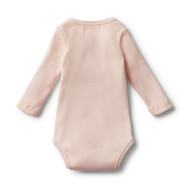 Wilson and Frenchy Organic Oyster Rib Long Sleeve Bodysuit