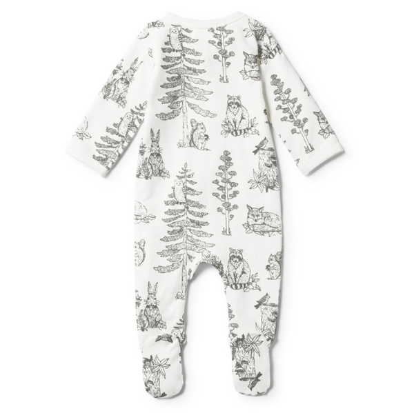 Wilson and Frenchy Organic Petit Foret Zipsuit