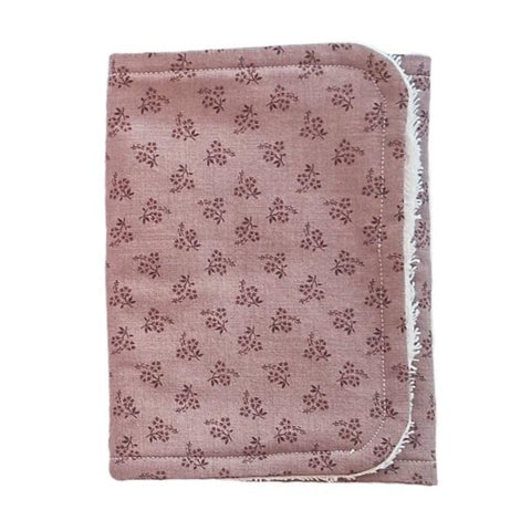 Little Bambino Bear - Mauve Floral Burp Cloth