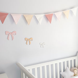 Nursery Bunting - Dusty Pink 8 flag