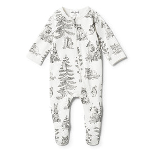Wilson and Frenchy Petit Foret Zipsuit - Little Bambino Bear