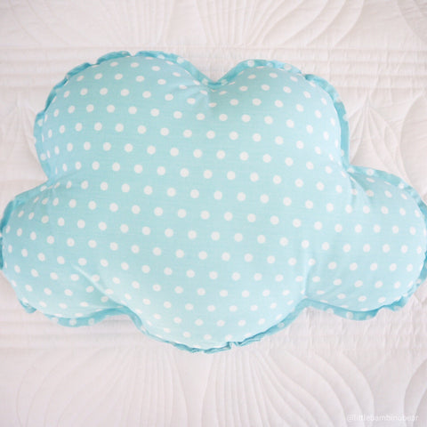 Little Bambino Bear - Polka Dot Cloud Cushion