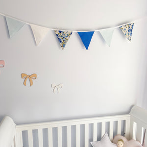 Nursery Bunting - Blue 6 flag - Little Bambino Bear
