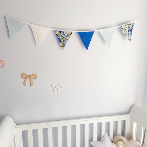 Nursery Bunting - Blue 6 flag