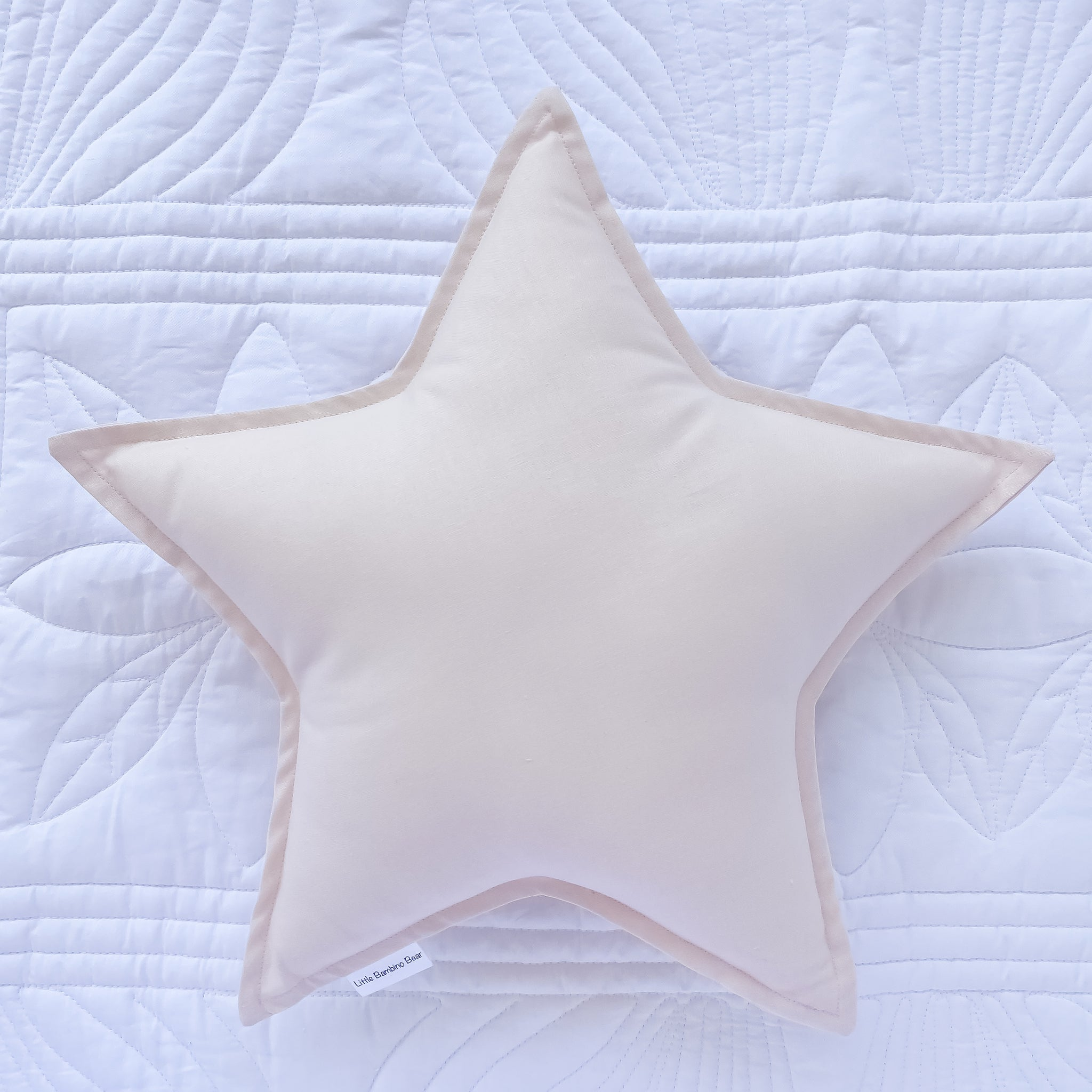 Light Pink Star Cushion - Little Bambino Bear