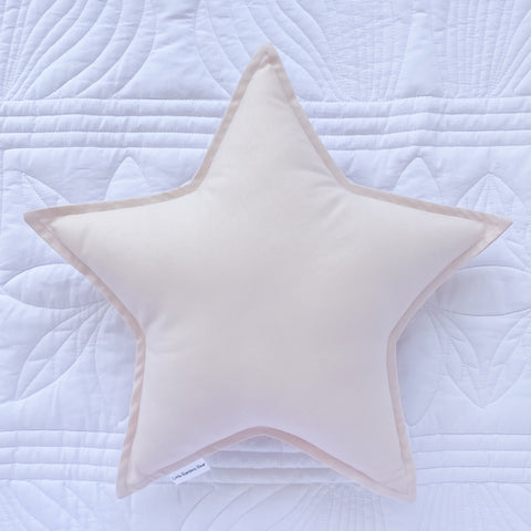 Little Bambino Bear - Light Pink Star Cushion