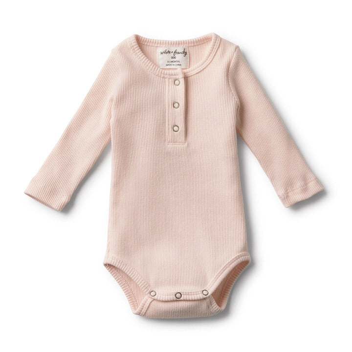 Wilson and Frenchy Organic Oyster Rib bodysuit - Little Bambino Bear