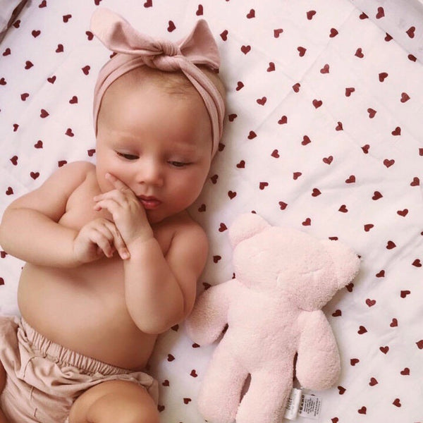 Baby Topknot Headband in Blush Pink - Little Bambino Bear