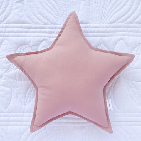 Little Bambino Bear - Dusty Pink Star Cushion