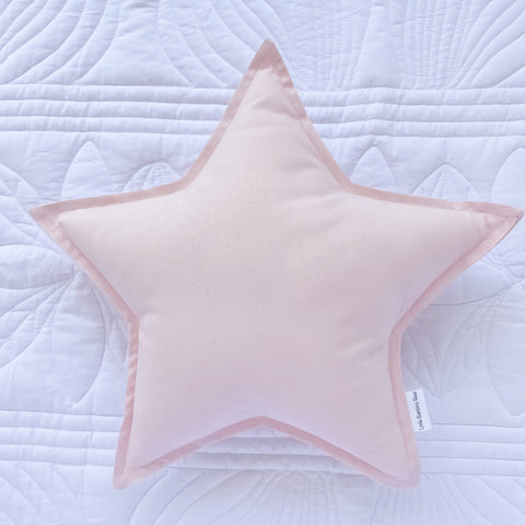 Little Bambino Bear - Baby Pink Star Cushion
