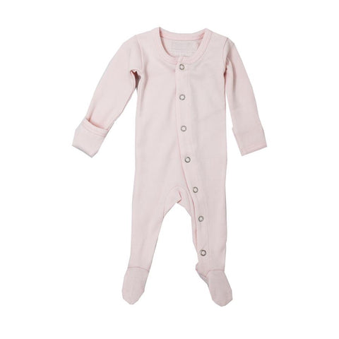 Organic Footed Overall - Blush - Little Bambino Bear