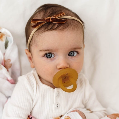Snuggle Hunny Kids Velvet Bow - Toffee | Little Bambino Bear