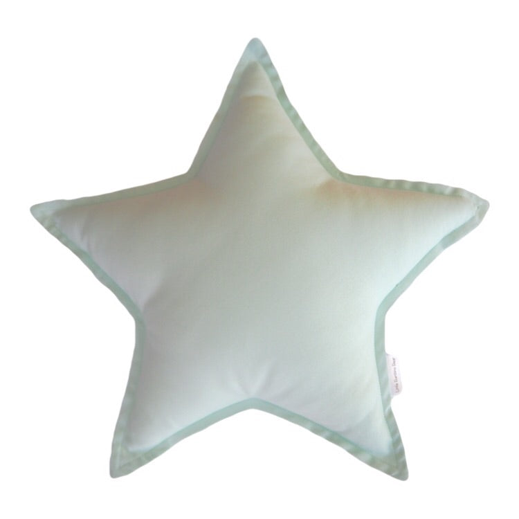 Little Bambino Bear - Mint Star Cushion