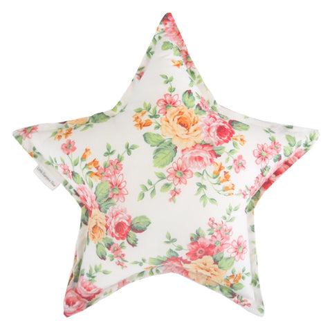 Little Bambino Bear - Floral Bouquet Star Cushion