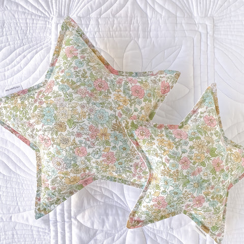 Liberty Floral Star Cushion - Little Bambino Bear