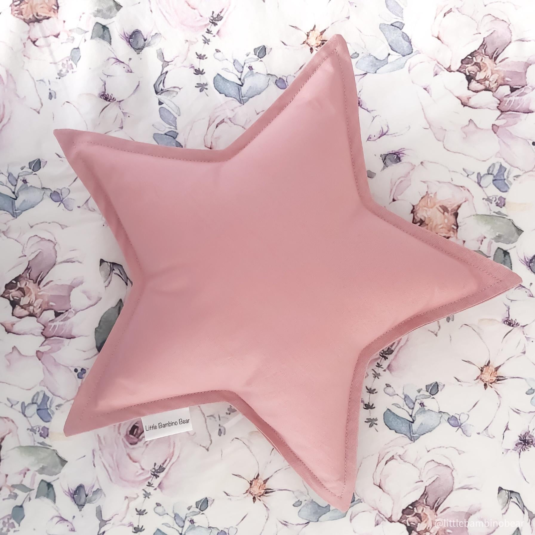 Dusty Pink Star Cushion - Little Bambino Bear