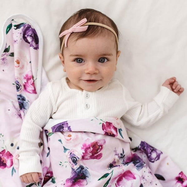 Snuggle Hunny Kids Velvet Bow - Rose Pink | Little Bambino Bear